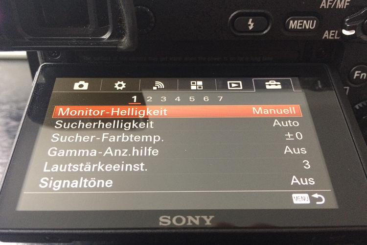 die lichtfänger Menü der Sony A6300