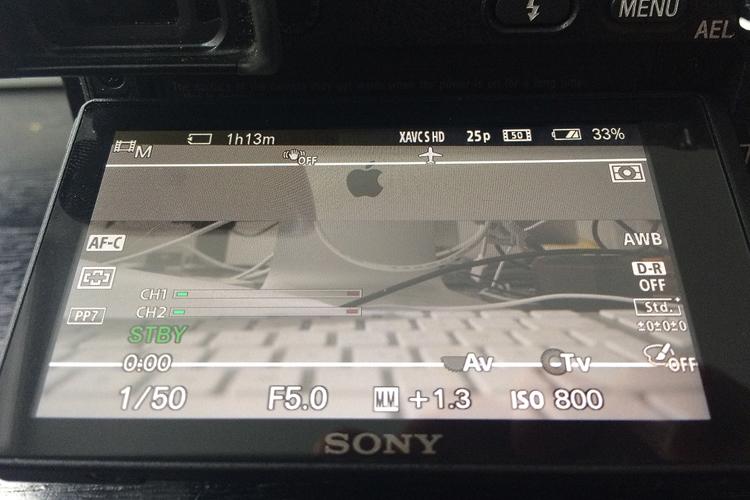 die lichtfänger Displayanzeige der A6300
