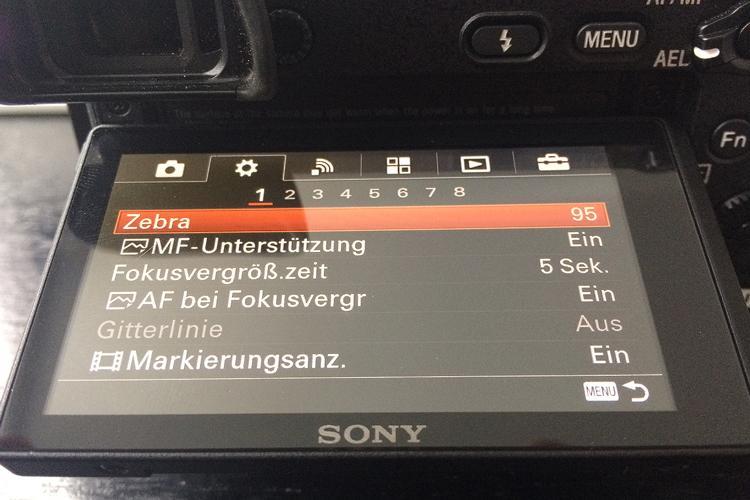 die lichtfänger Menüführung Sony A6300