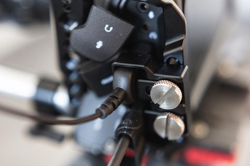 die lichtfänger BMPCC4K Rig Kabelschutz