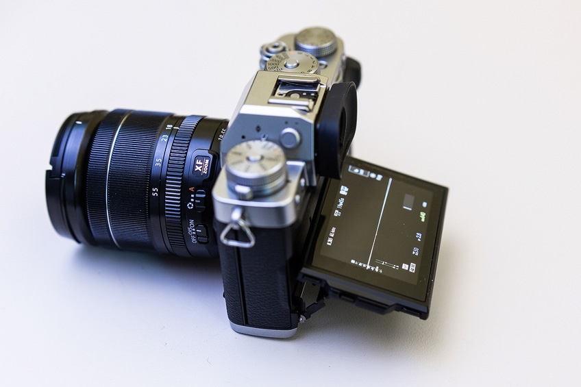 fuji x-t3 side display