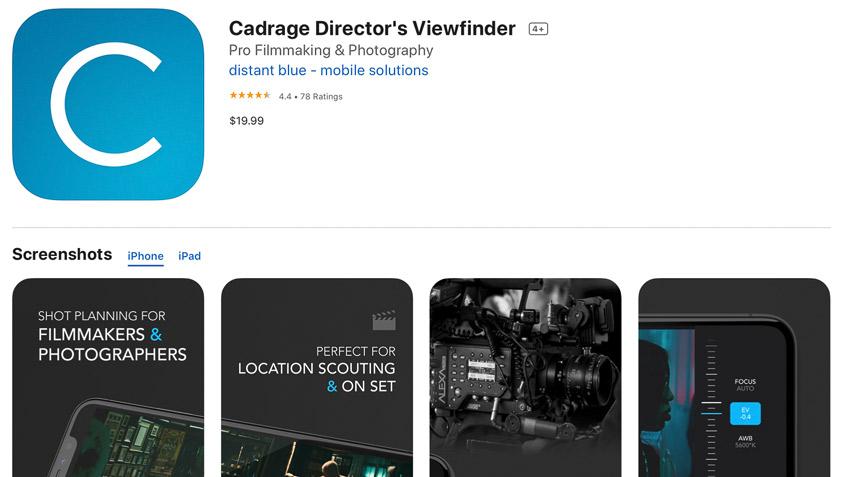 DLF Cadrage iPhone Viewfinder App Store