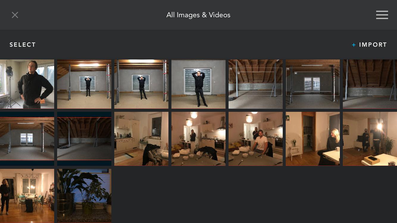 DLF Cadrage iPhone Viewfinder App Storyboard