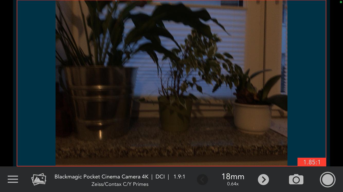 DLF Cadrage iPhone Viewfinder App 18mm Balken