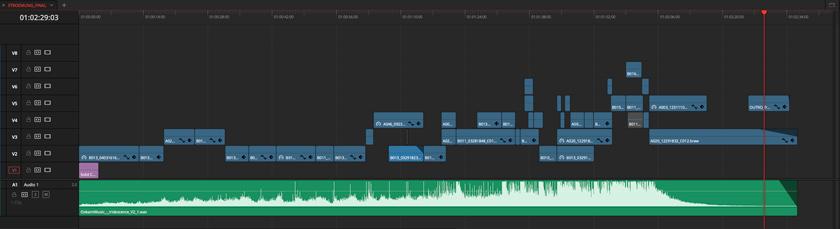 DaVinci Resolve EDIT Timeline