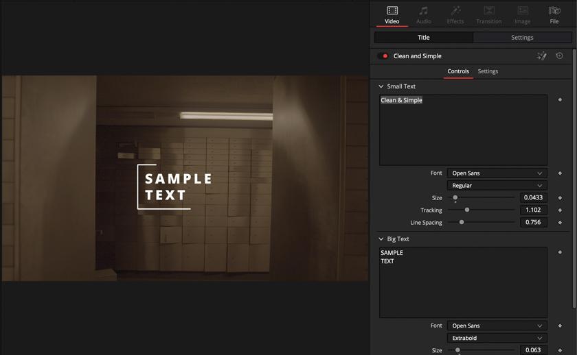 DLF DaVinci Resolve Titel & Animationen