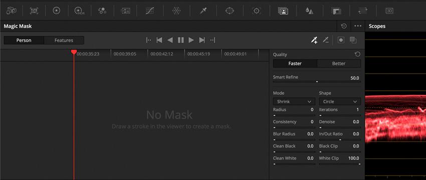 DLF DaVinci Resolve Color Tab Magic Mask