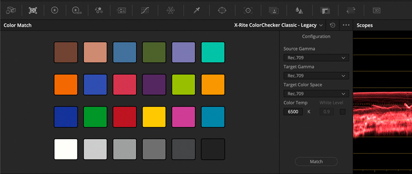 DLF DaVinci Resolve Color Tab ColorMatch