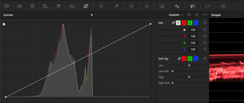 DLF DaVinci Resolve Color Tab Curves