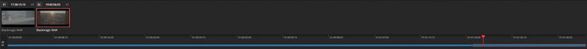 DLF DaVinci Resolve Color Tab Timeline und Clips