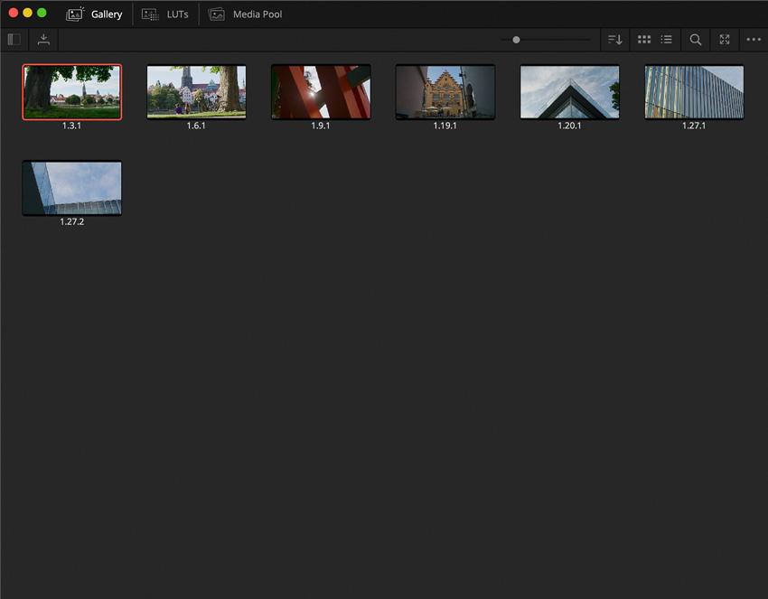 DLF DaVinci Resolve Color Tab Gallery