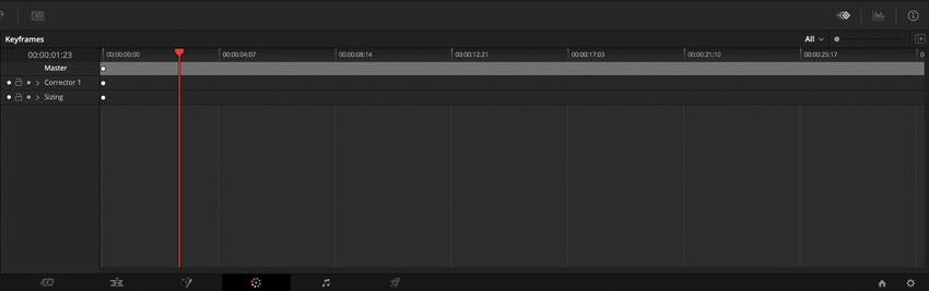 DLF DaVinci Resolve Color Tab Keyframes